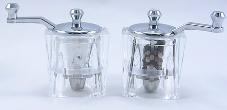 Indi Acrylic Salt Mill and Pepper Mill Set (3 in.) Thumbnail