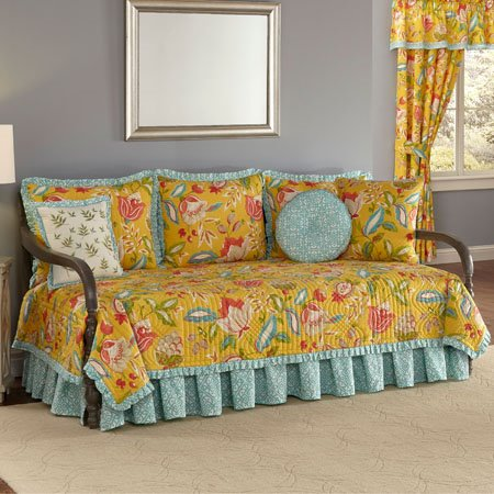 Waverly Modern Poetic Reversible 5 Piece Daybed Quilt Set Thumbnail