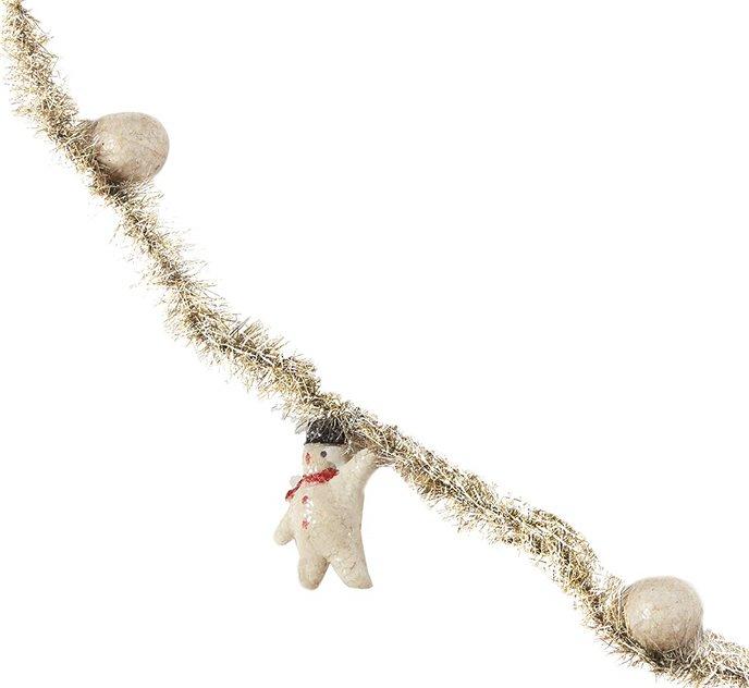 "Snowman Tinsel Garland 96"" Thumbnail"