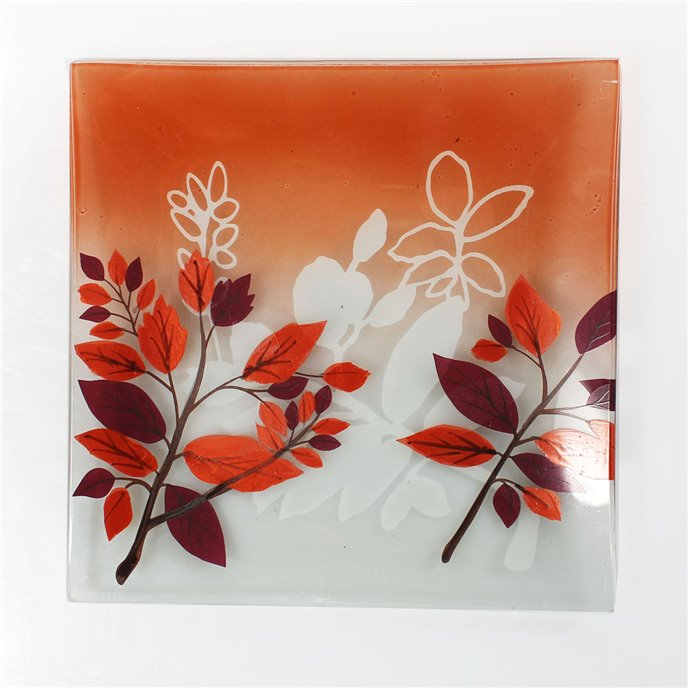 Yankee Candle Crimson Autumn Candle Plate Thumbnail