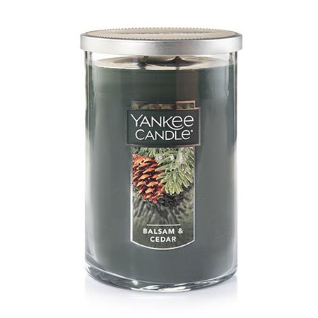 Yankee Candle Balsam & Cedar Large 2 Wick Tumbler Candle Thumbnail