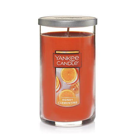 Yankee Candle Honey Clementine Medium Perfect Pillar Candle Thumbnail