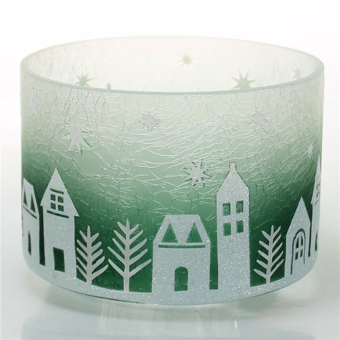 Yankee Candle Winter Village Barrel Shaped Jar Shade Thumbnail