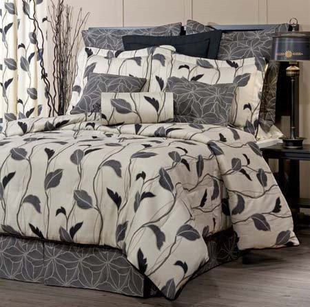 "Yvette Eclipse Twin Thomasville Comforter Set (15"" bedskirt) Thumbnail"